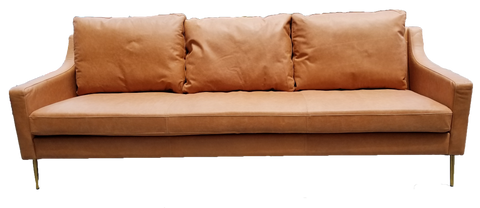 sofa, couch, sofa for rent, rental items, furniture for rent, event planning, ooh events, ooh events couch, ooh events sofa, charleston sc rentals, charleston wedding rentals, emerson sofa, emerson leather sofa, brown leather 3 seat sofa