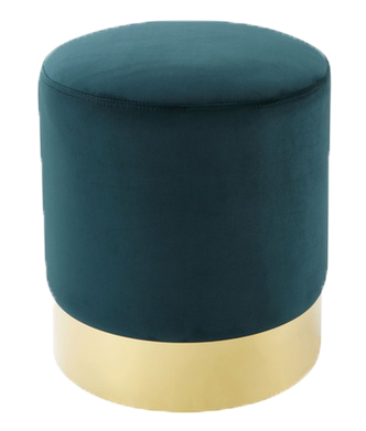 Emerald Velvet Stool, green and gold velvet stool, green and gold velvet ottoman, green and gold stool, ooh events, charleston rentals, event rentals