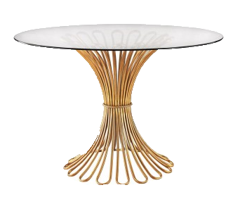 Flared Rope Gold Leaf Table