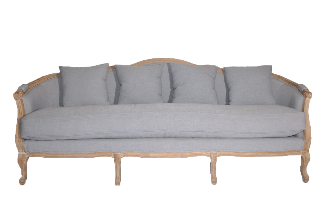 sofa, couch, sofa for rent, rental items, furniture for rent, event planning, ooh events, ooh events couch, ooh events sofa, periwinkle sofa, long sofa, periwinkle couch