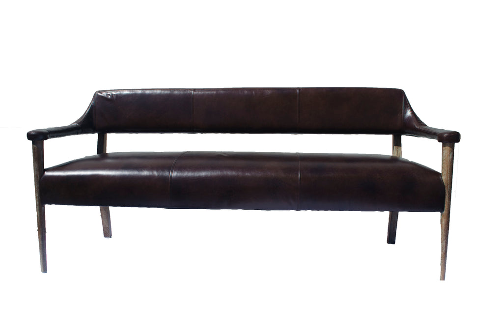 Brooklyn Leather Bench