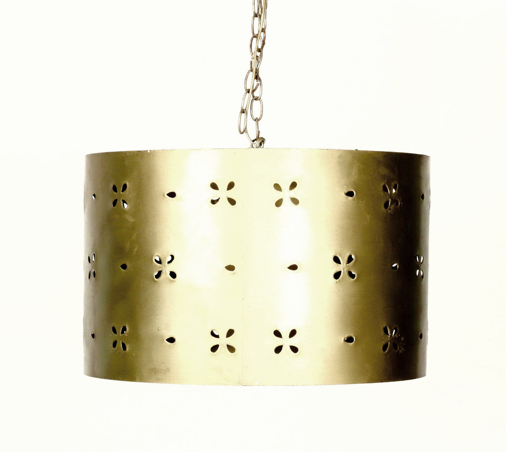 Gold Punched Tin Drumshade