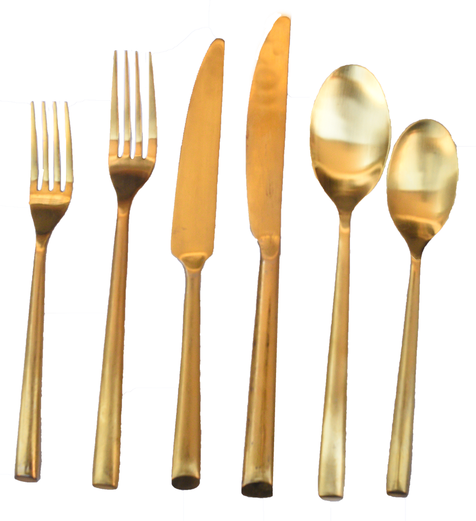 Gold Bevel Flatware