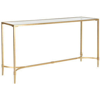 Gold Console with Glass Top