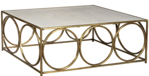 Gold Three Ring Coffee Table