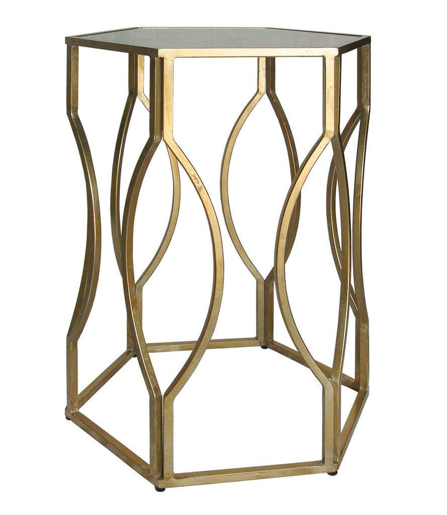 Gold Geometric Side Table