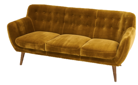 sofa, couch, sofa for rent, rental items, furniture for rent, event planning, ooh events, ooh events couch, ooh events sofa, Golden Tufted Sofa, golden couch, gold sofa, mustard yellow sofa, mustard yellow gold, yellow gold sofa