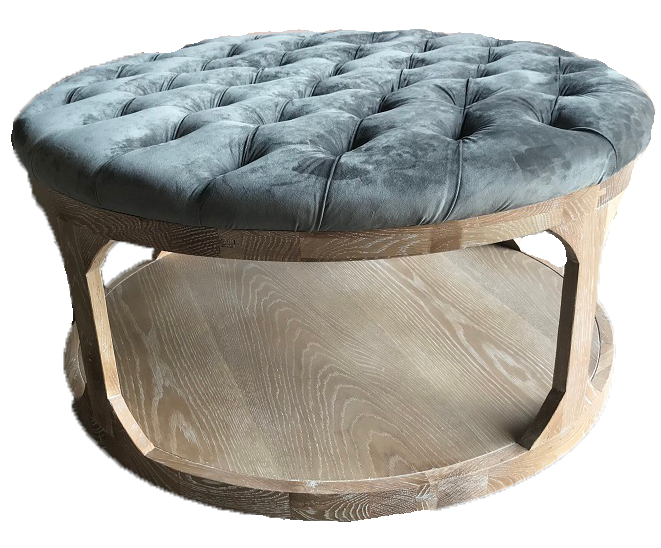 Marvelous Grey Velvet Tufted Ottoman Caraccident5 Cool Chair Designs And Ideas Caraccident5Info