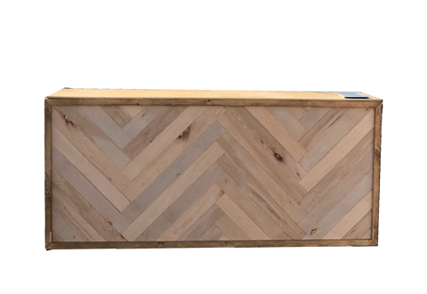 Harrington bar, Harrington bar ooh events, ooh events bar, shiplap bar, bar with shiplap, wooden bar, wooden shiplap bar, herringbone bar, herringbone pattern, herringbone wood