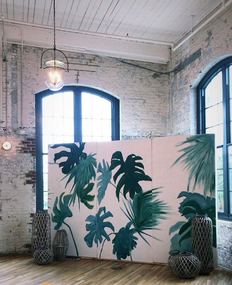 ooh events, backdrop, tropical backdrop, tropical leaves backdrop
