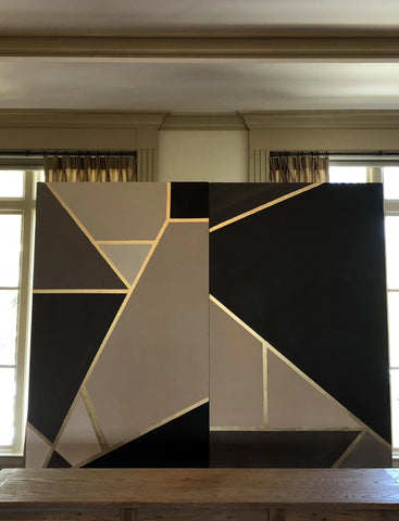 Geometric Wall Backdrop
