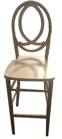 eternity barstool, gold barstool, barstool for rent, charleston event rentals, ooh events
