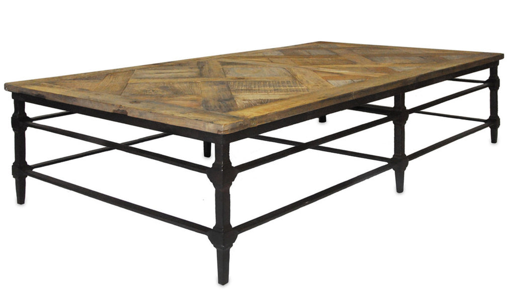 Deluxe Iron and Barnwood Coffee Table