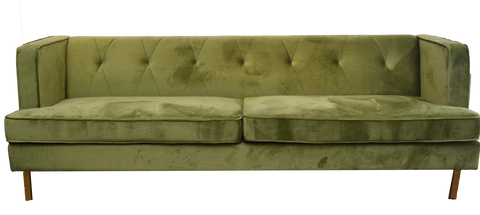 jade sofa, green velvet sofa, green sofa for rent, event rentals, charleston event rentals, ooh events