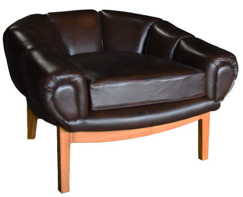James Bond Brown Leather Chair