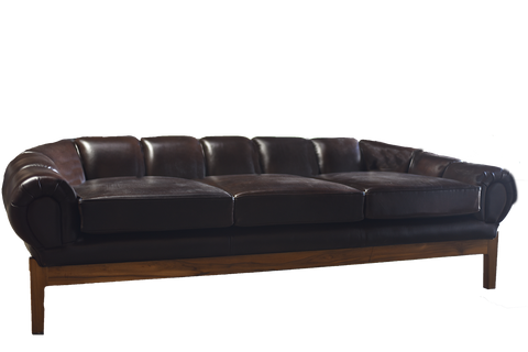 James Bond Brown Leather Sofa