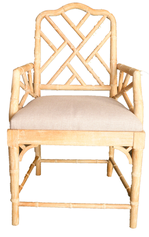 Jack Arm Chair, Bamboo arm chair, arm chair, linen and bamboo chair, wooden chair for rent, charleston rentals, event rentals, wedding ceremony chair, ooh events