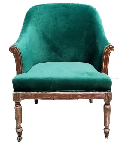 chair, chairs, chairs for rent, rental items, furniture for rent, event planning, ooh events, green velvet jordan chair, jordan chair, green velvet sitting chair, jordan velvet chair, green velvet chair with wood, emerald green furniture