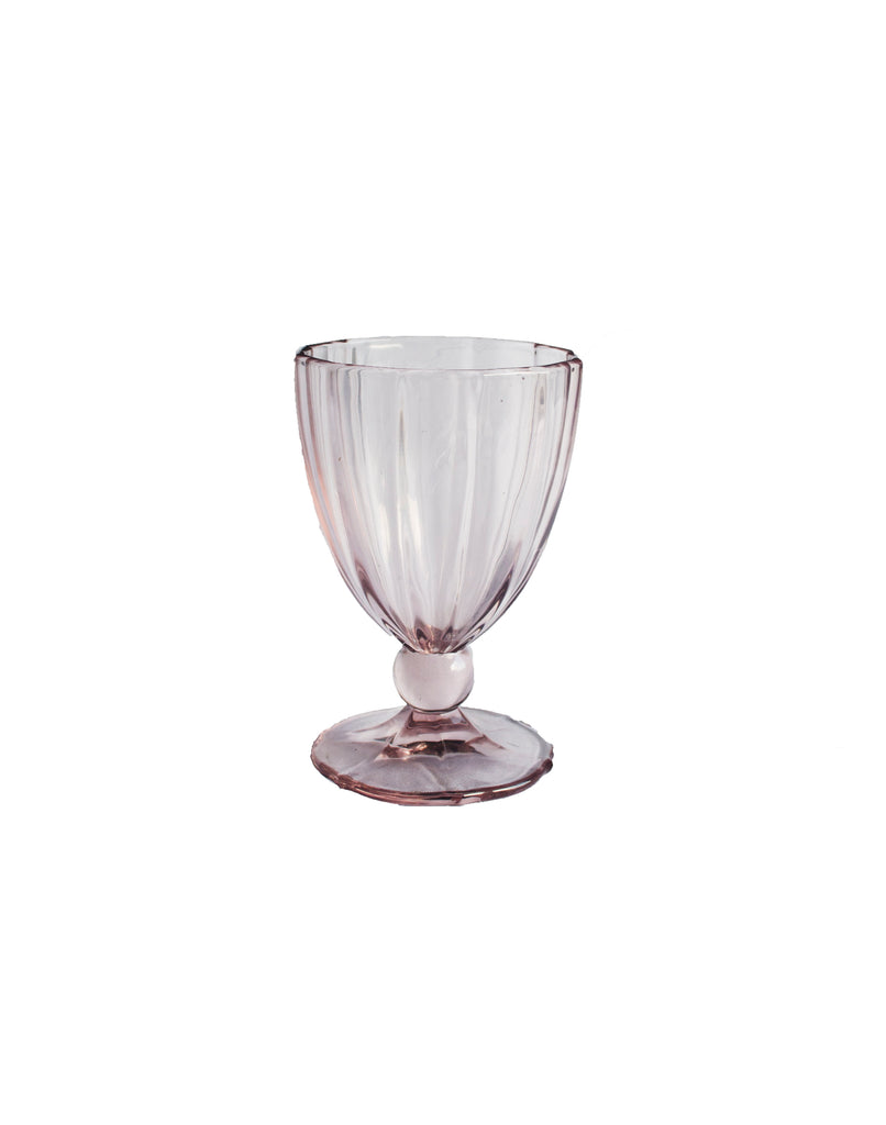 Light Pink Water Goblet