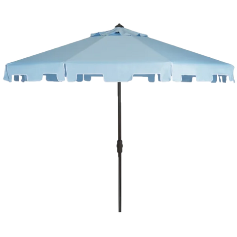 Light Blue Umbrella with Stand