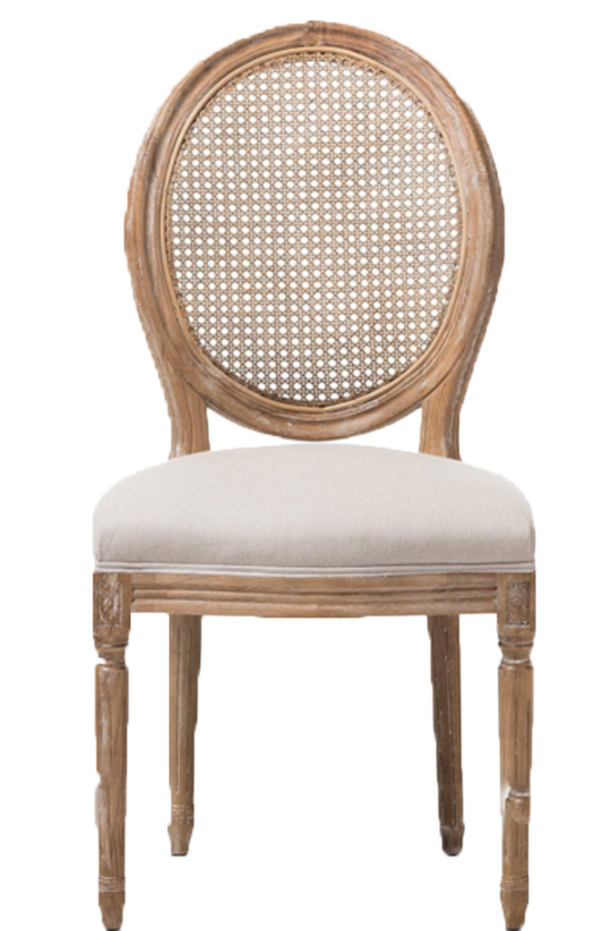 Louis Cane Back Chair