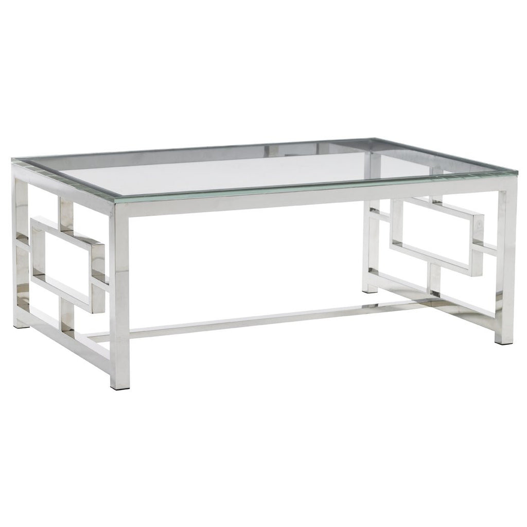 Silver Cutout Coffee Table