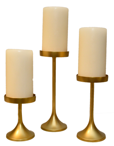 modern gold pillar candlesticks, gold candlesticks, decor for rent, event decor, charleston event rentals, event rentals, ooh events