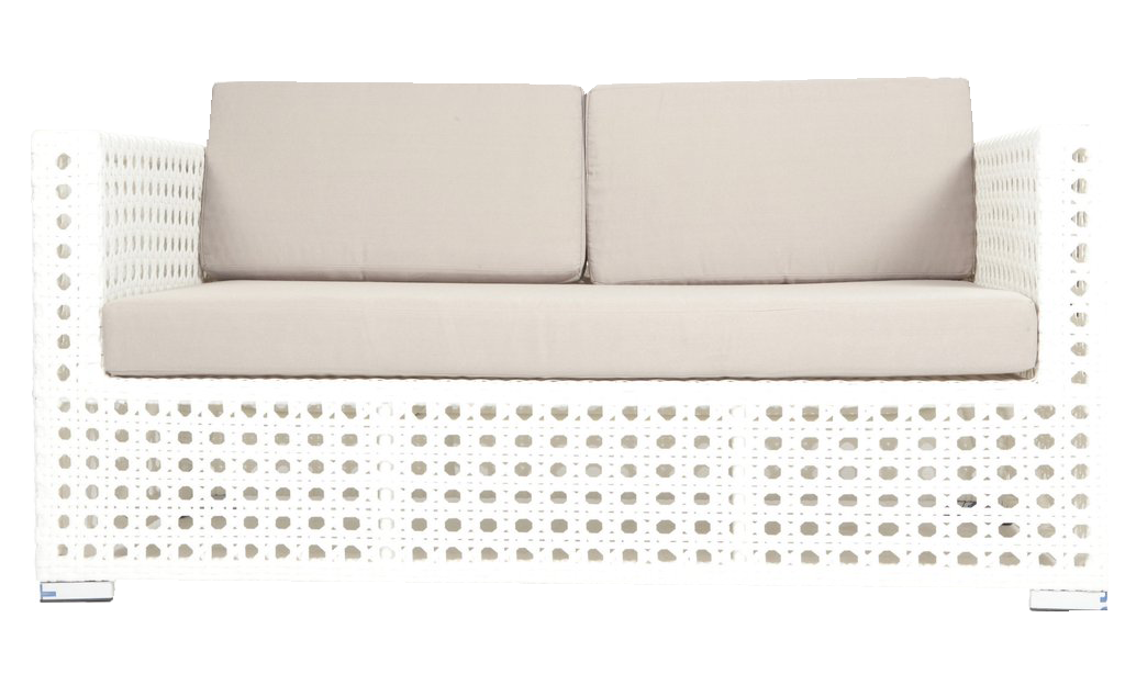 Brilliant Modern White Garden Loveseat Pabps2019 Chair Design Images Pabps2019Com