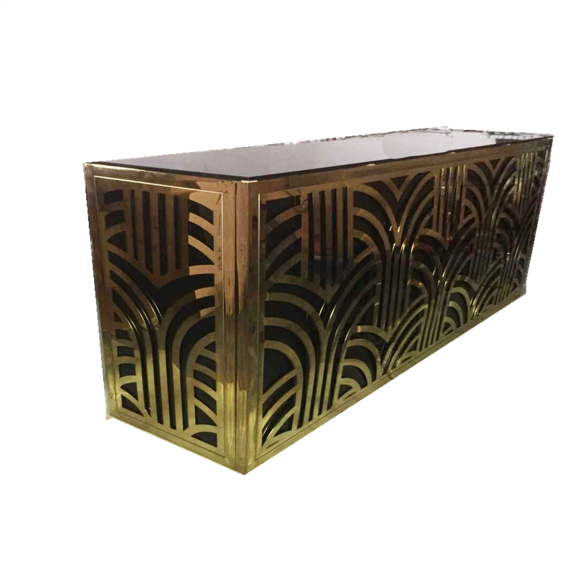 Nubian Bar, Retro bar, great gatsby bar, nubian gold and black bar, geometric gold and black bar, bar for rent