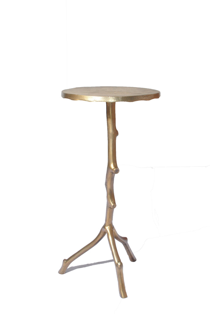 Brass Stick Side Table