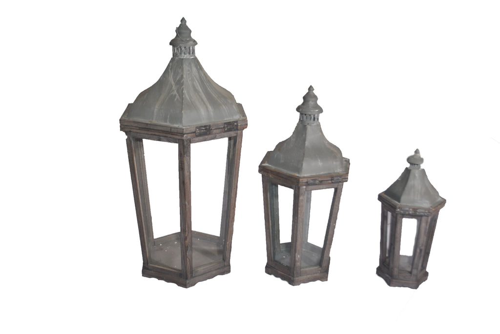 Grey Washed Lanterns