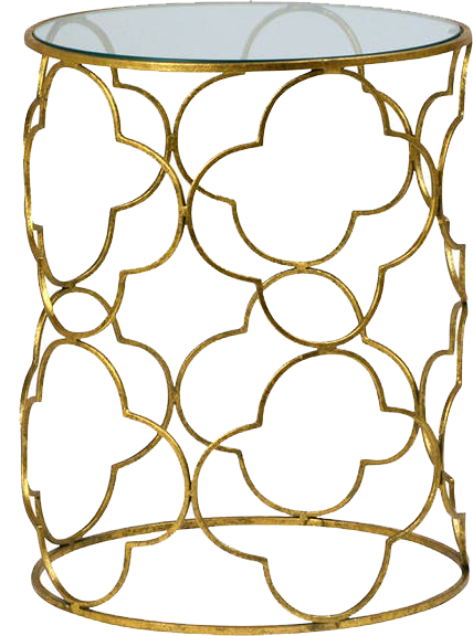 clovette table, side table, gold and glass table, gold metal lattice table, charleston rentals, ooh events, gold metal table