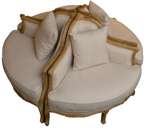 reagan circular sectional sofa, white and gold sectional sofa, round sectional sofa for rent, sofa for rent, event rentals, ooh events, charleston event rentals