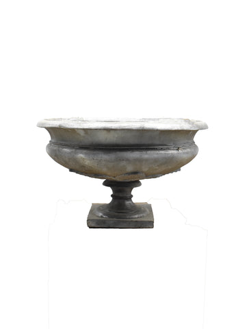 Round Base Concrete Urn