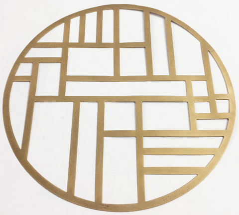 Gold Metal Circular Placemat/Charger