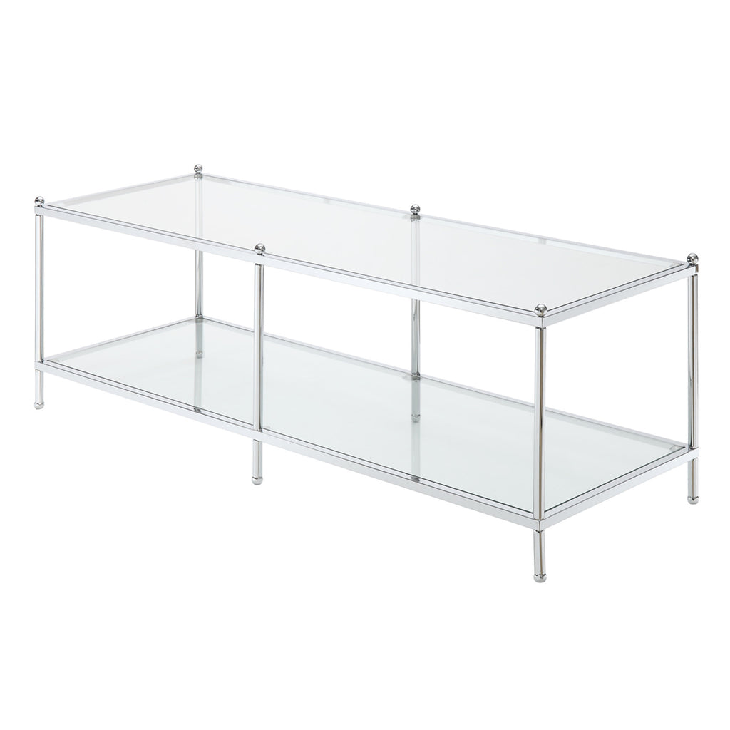 Chrome Glass Coffee Table Ooh Events Design Center