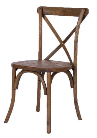 Rustic X-Back Chair