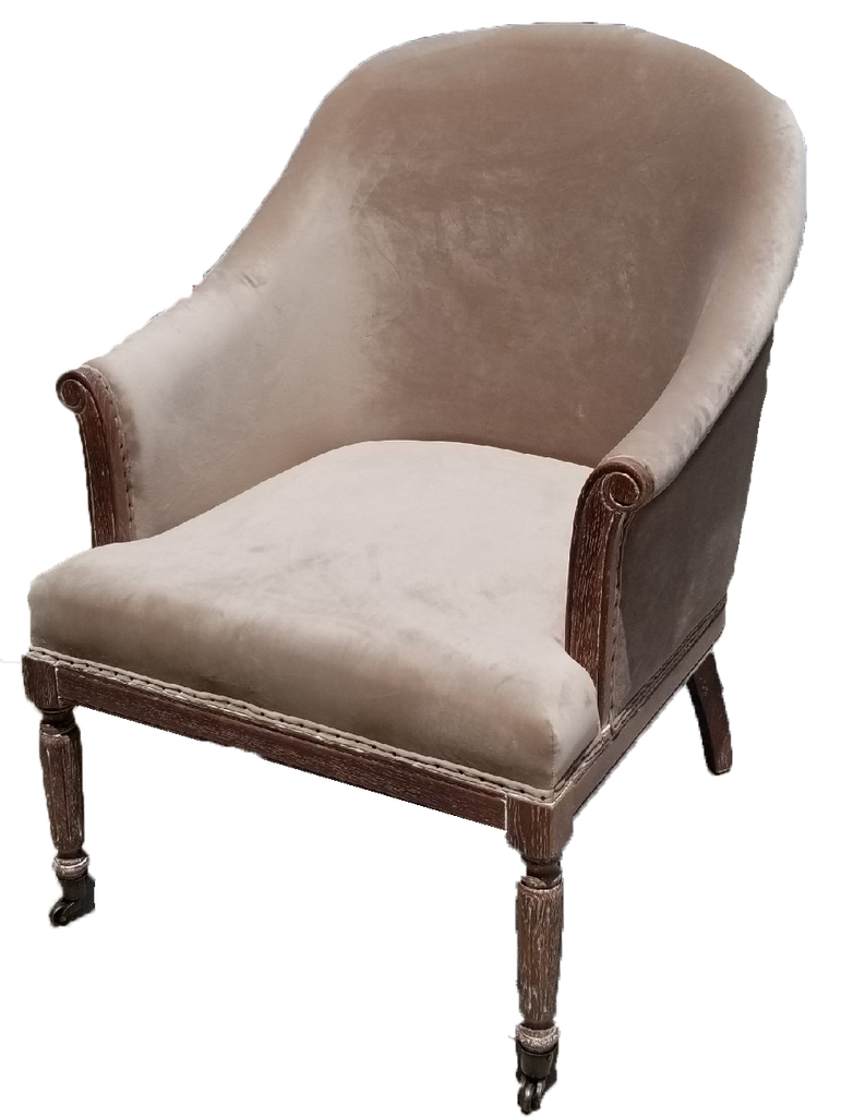 chair, chairs, chairs for rent, rental items, furniture for rent, event planning, ooh events, sauve chair, cauve champagne velvet chair, champagne velvet chair, velvet sitting chair, champagne velvet chair with wood accents