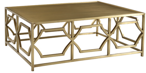 rentals, table rentals, coffee table, coffee table for rent, coffee table, side table for rent, rental tables, gold coffee table, modern, modern gold coffee table, brushed gold
