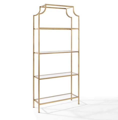 furniture rentals, ooh events, event rentals, rental, rentals, wedding rentals, bookshelf, bookshelves, bar back, book shelf for bar, book case, gold glass etagere, gold glass bookshelf, gold glass bookcase