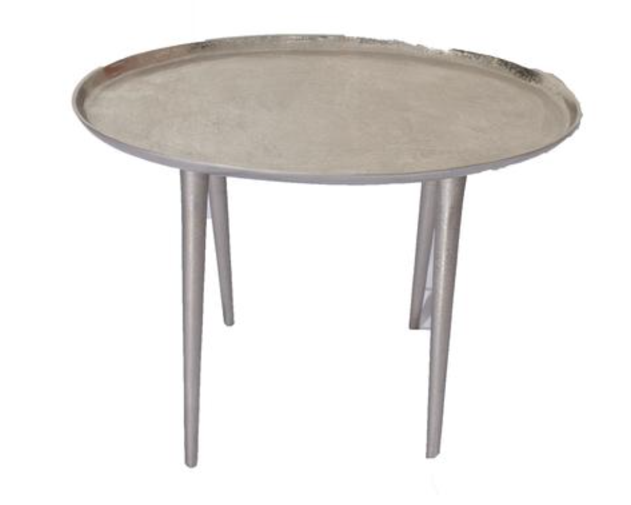Mid Century Silver Oval Side Table