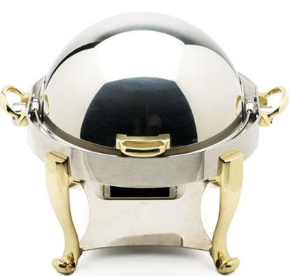 Oneida Silver/Gold Roll Top Chafer