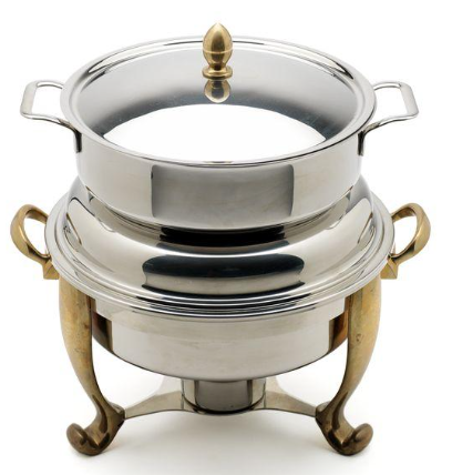 Oneida Silver/Gold Soup Tureen