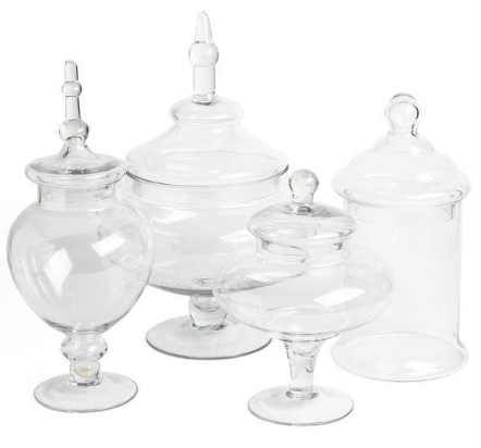Glass Candy Apothecary Jars