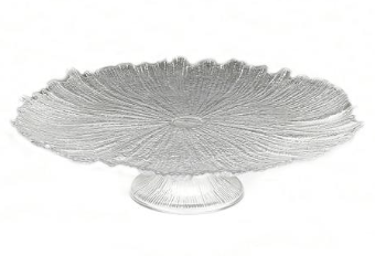 Coral Clear Footed Cake Stand