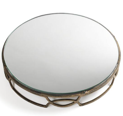 Gold Iron & Mirror Cake Stand