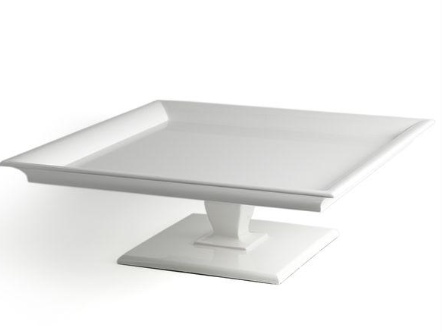 White Lacquer Cake Stand
