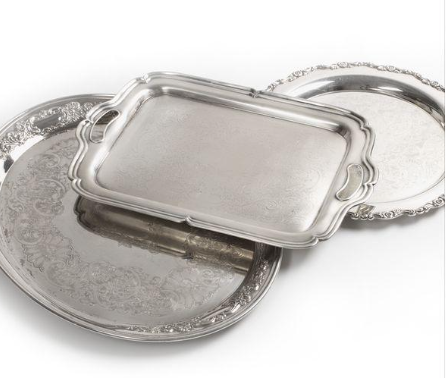 Assorted Vintage Silver Passing Trays