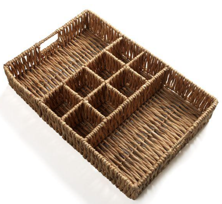 Woven Basket with Compartments