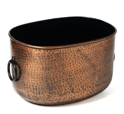 Oval Copper Hammered Tub
